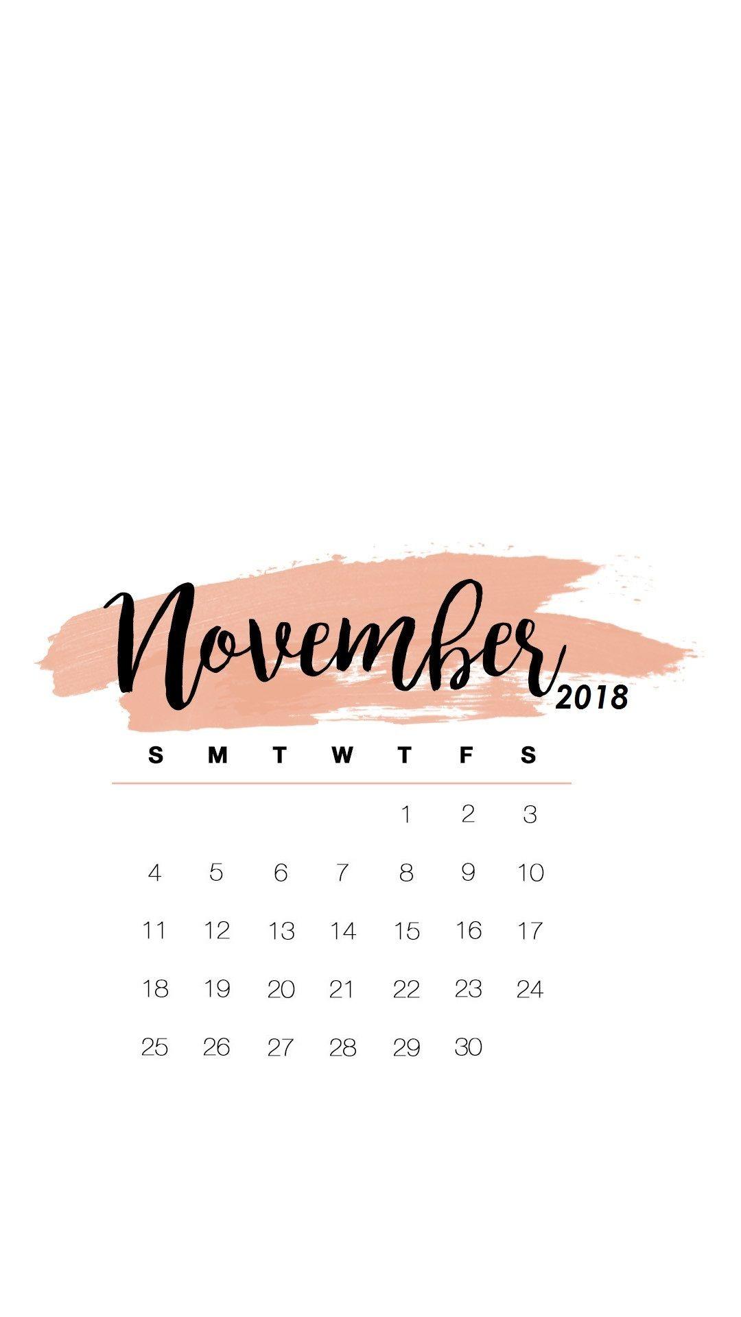 Desktop Wallpapers Calendar November 2018 71 Pictures