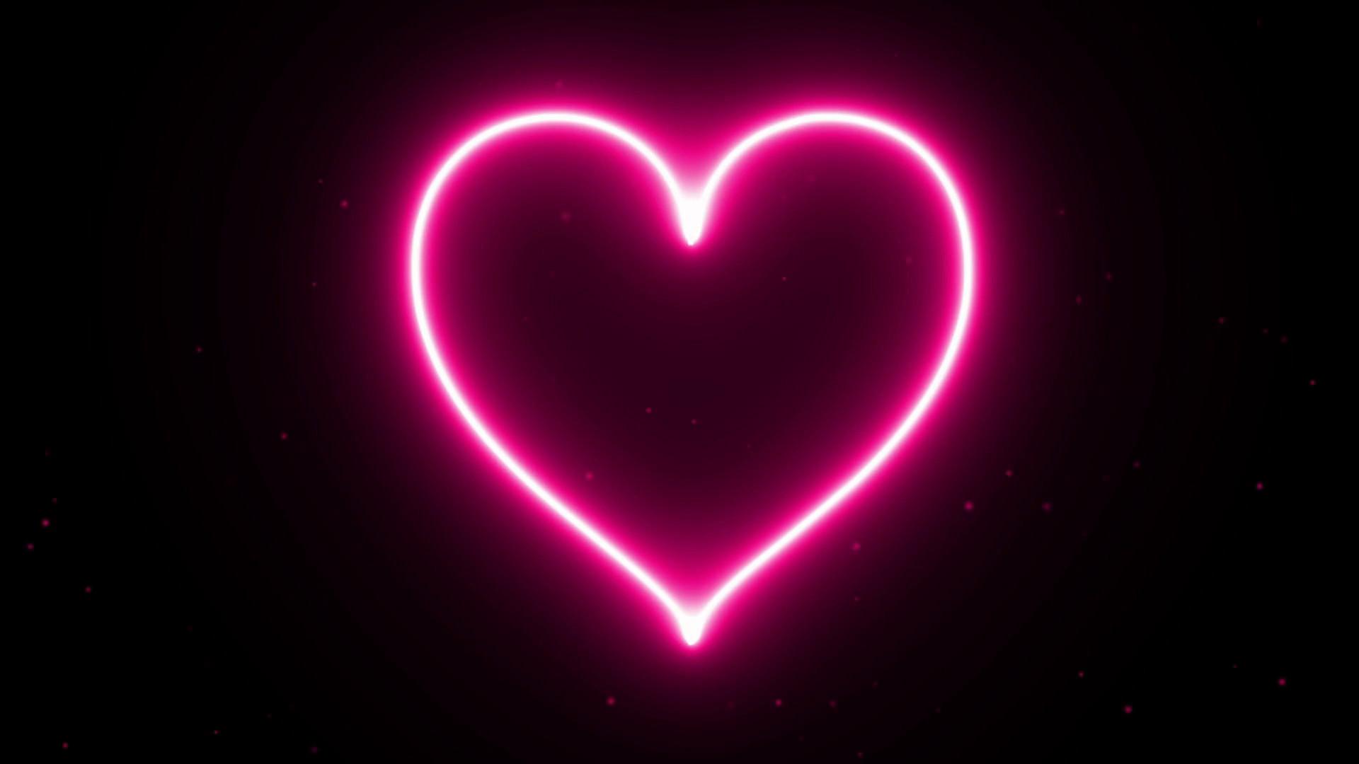 Moving Fire Heart Wallpaper