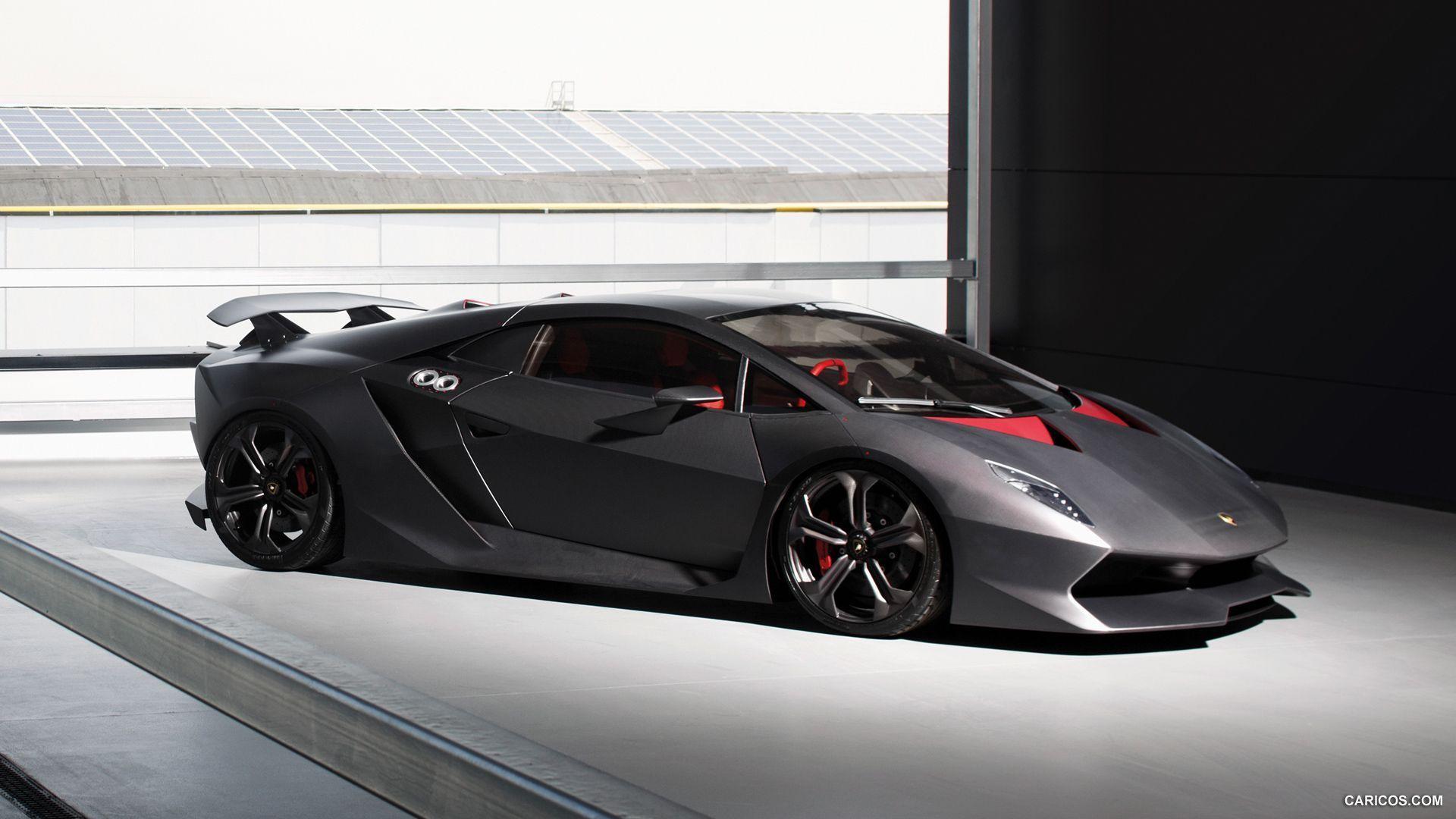 3840x2160 Wallpaper Lamborghini, Sesto Elemento, Black, Front View 3840x2160