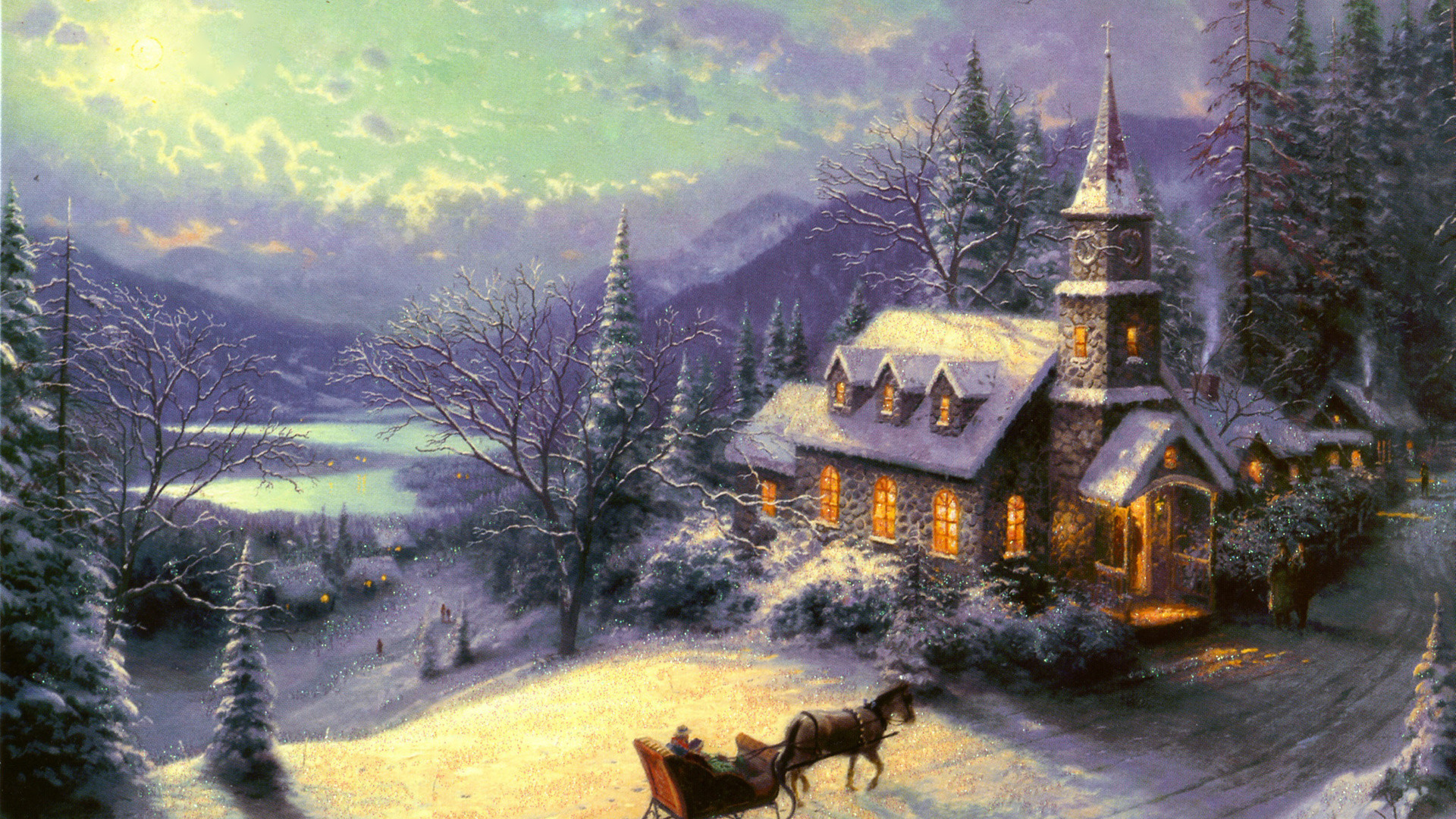 1920x1080 thomas kinkade christmas wallpaper – 1920×1080 High Definition .
