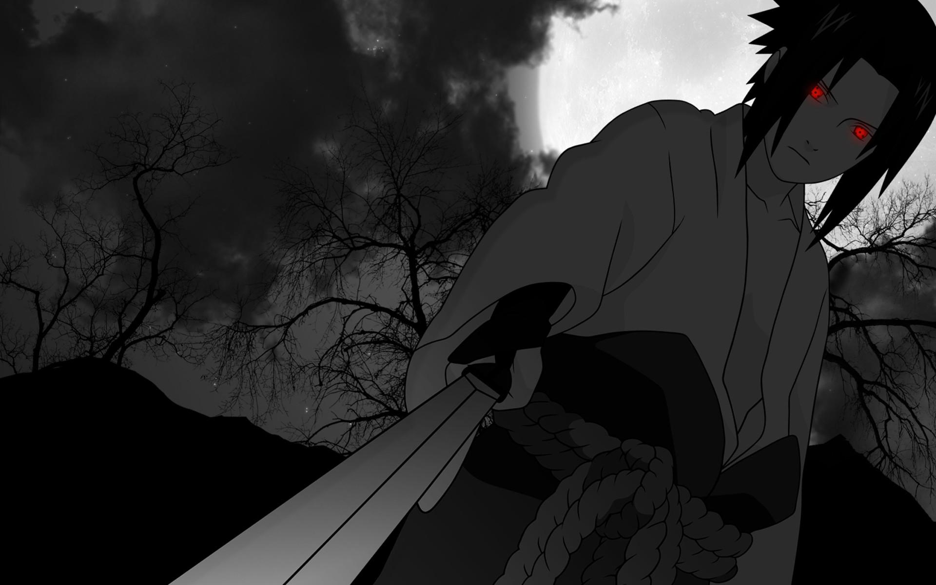 sasuke uchiha sharingan eyes sword wallpaper 1920x1200 1920x1200