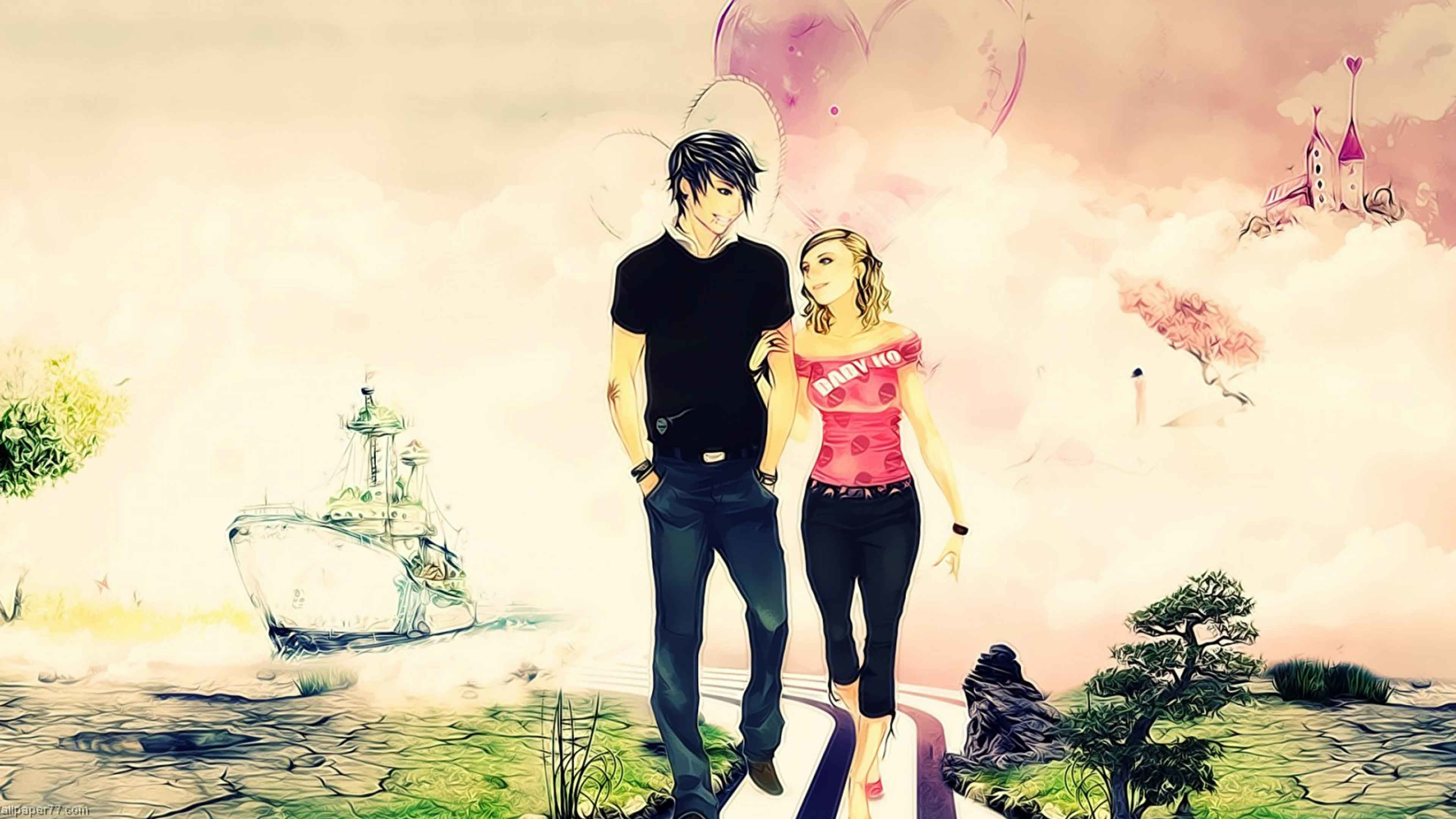Love Cartoon Wallpaper 71 Pictures