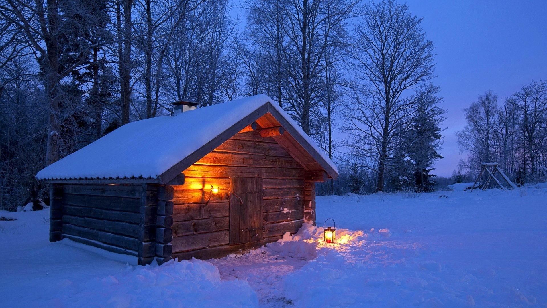 Winter Cabin Wallpaper 71 Pictures
