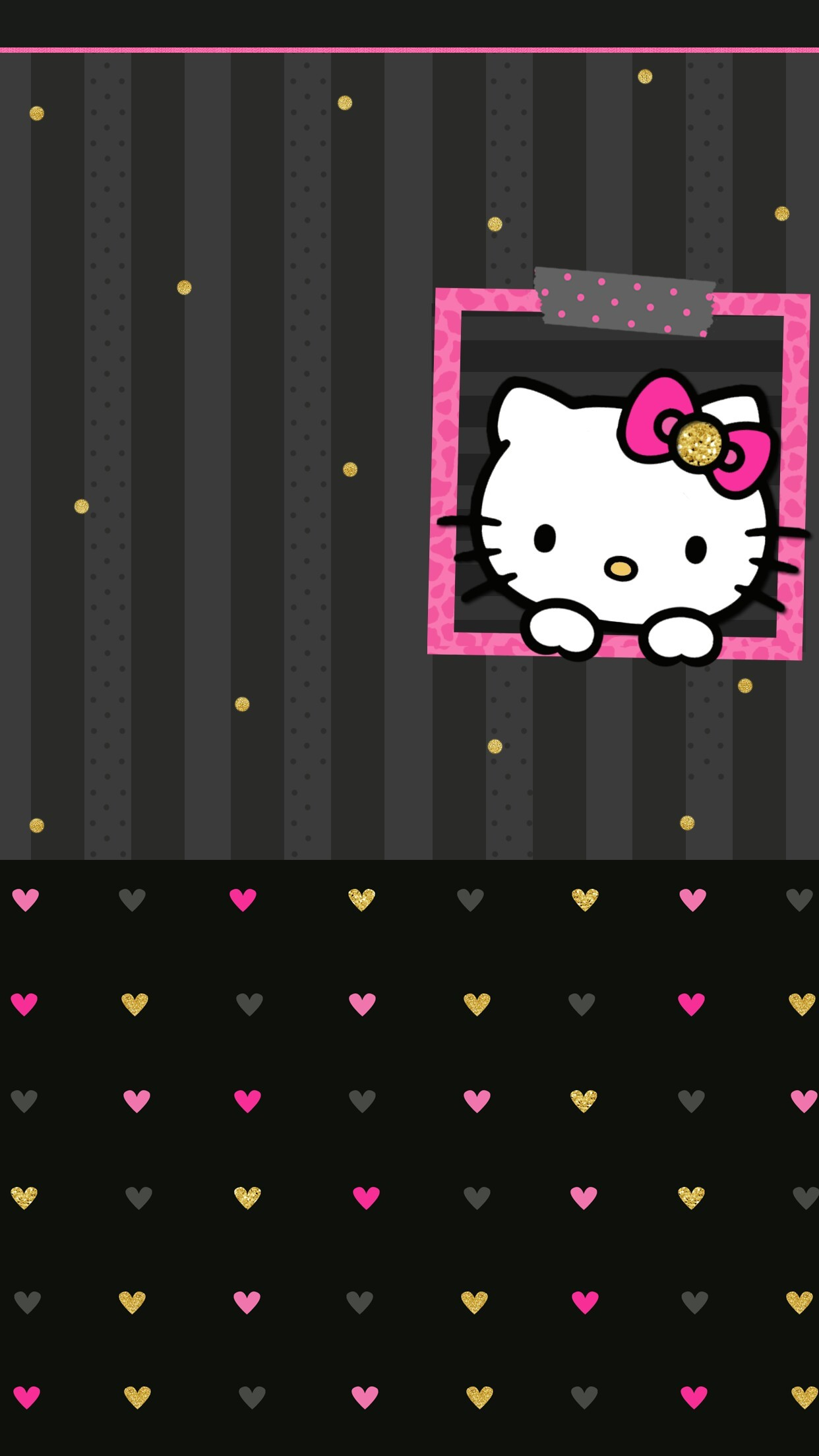 Pink and Black Hello Kitty Background (59+ pictures)