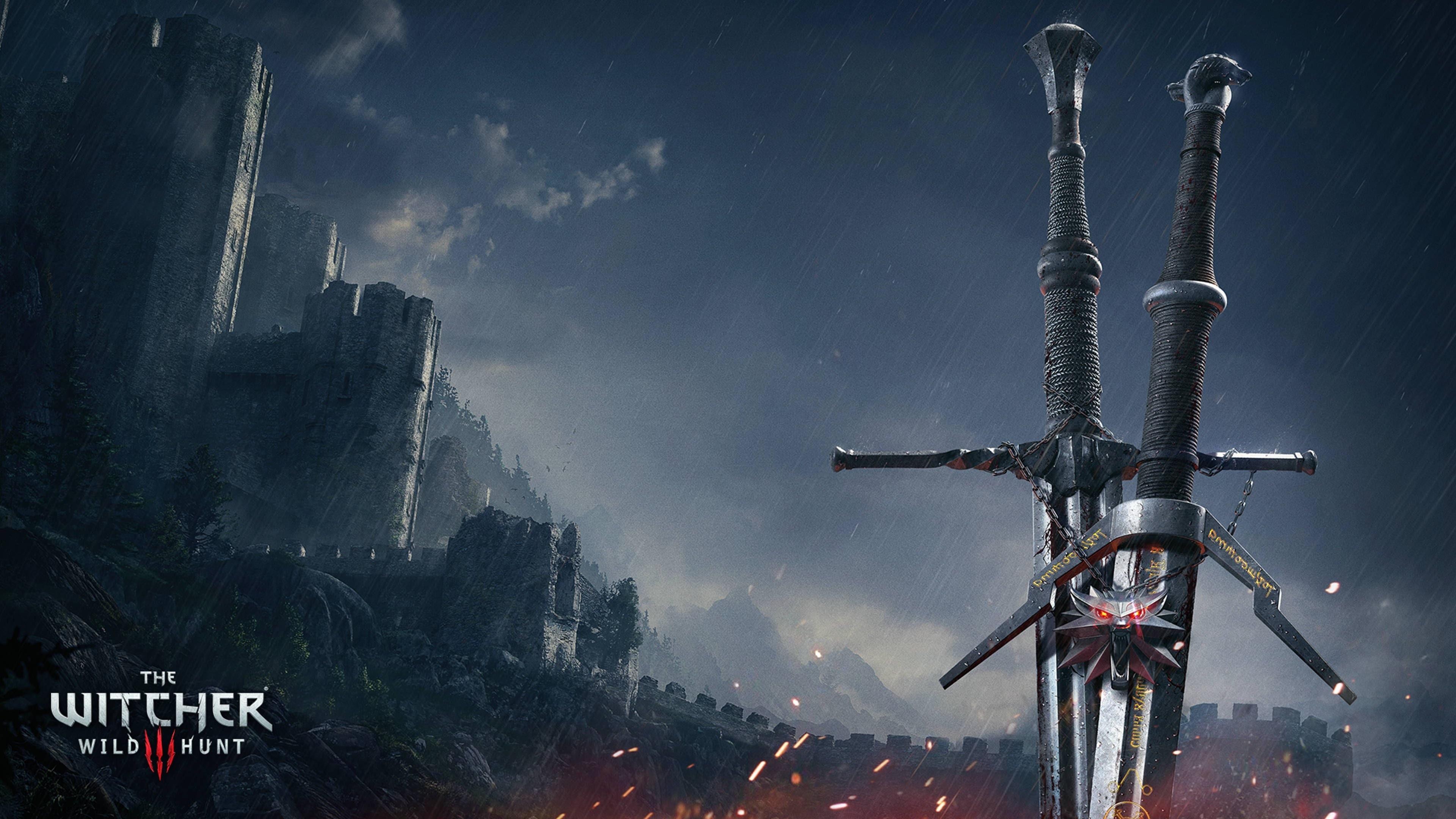 Witcher 3 Wild Hunt Swords 3840x2160