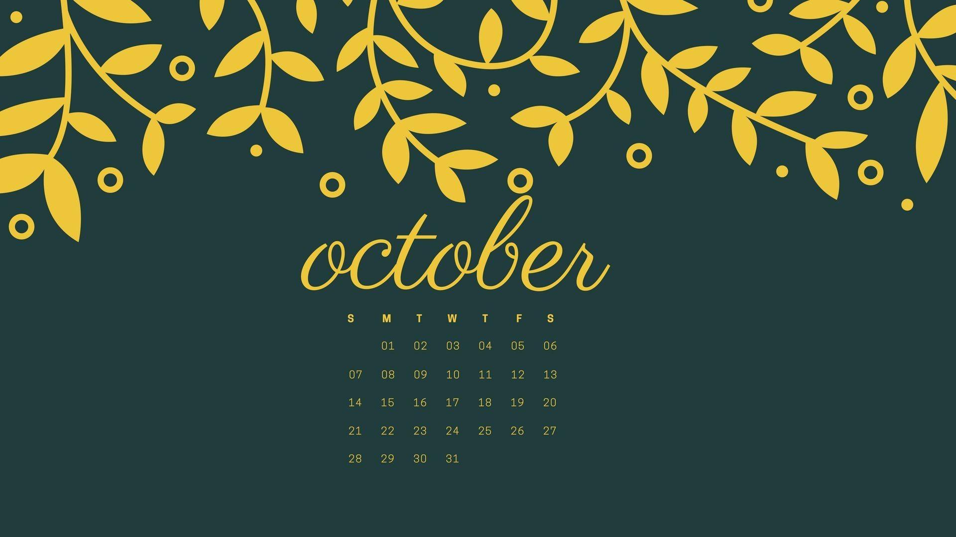 Desktop Wallpapers Calendar October 2018 72 Pictures
