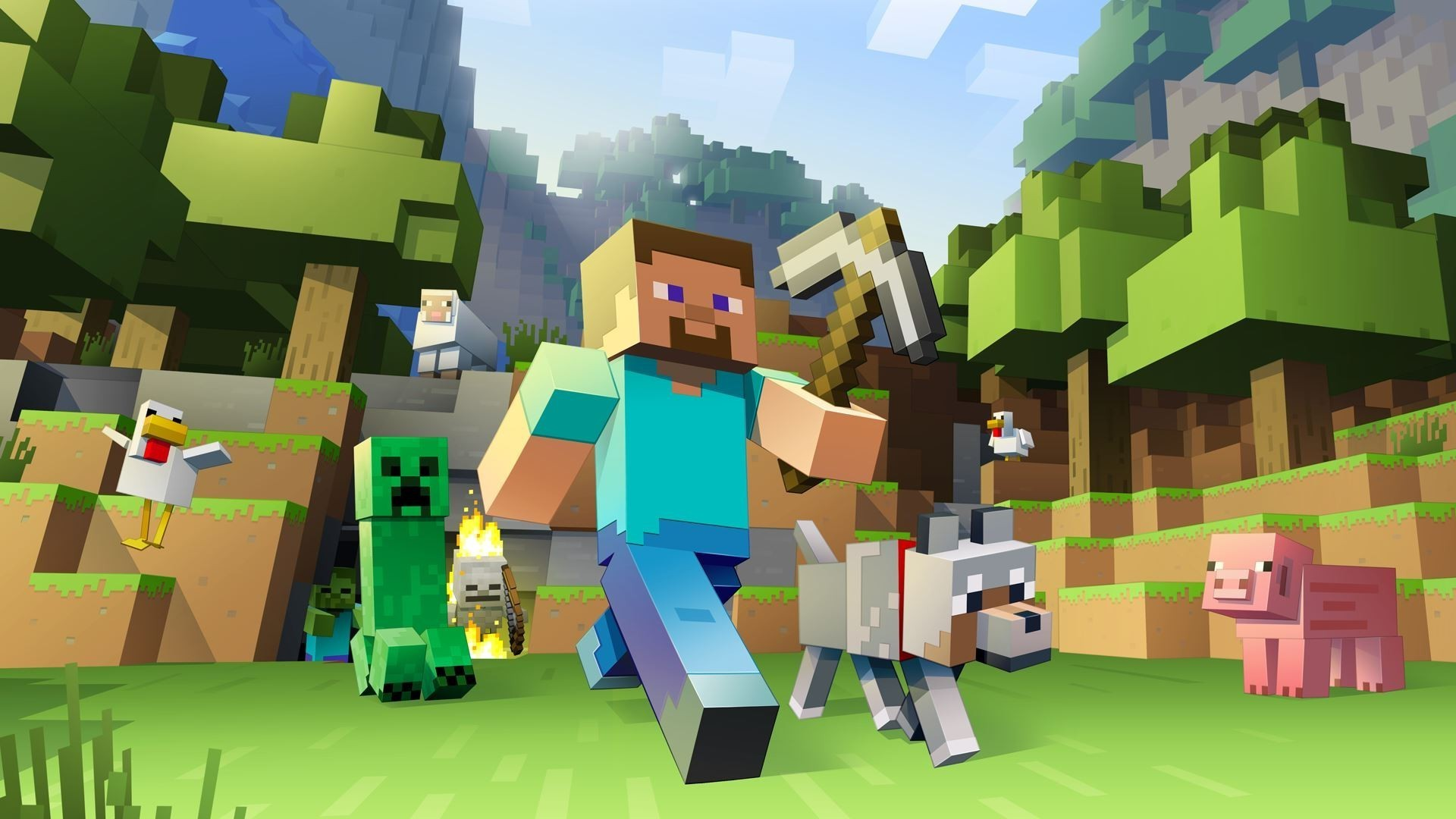 Minecraft Background Hd 82 Pictures