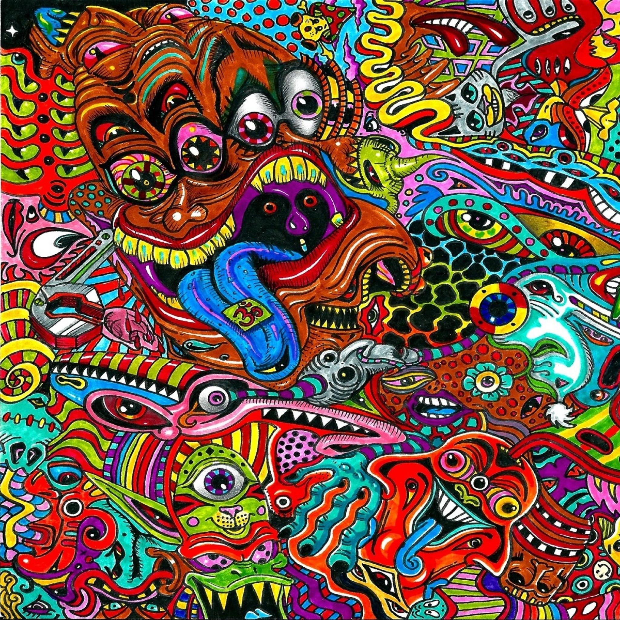 Trippy Tapestries Alien