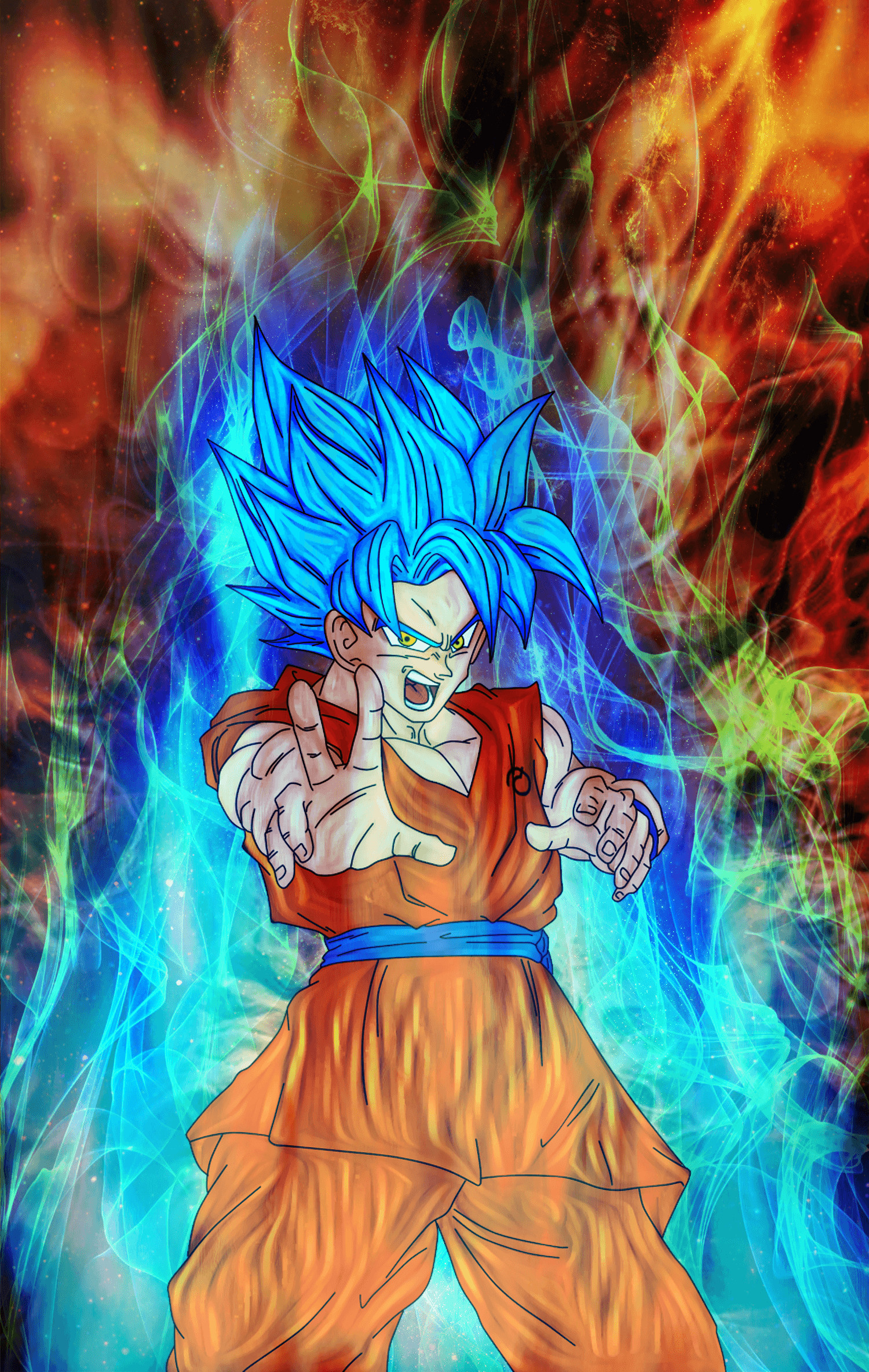 Goku Super Saiyan God Wallpapers 57 Pictures