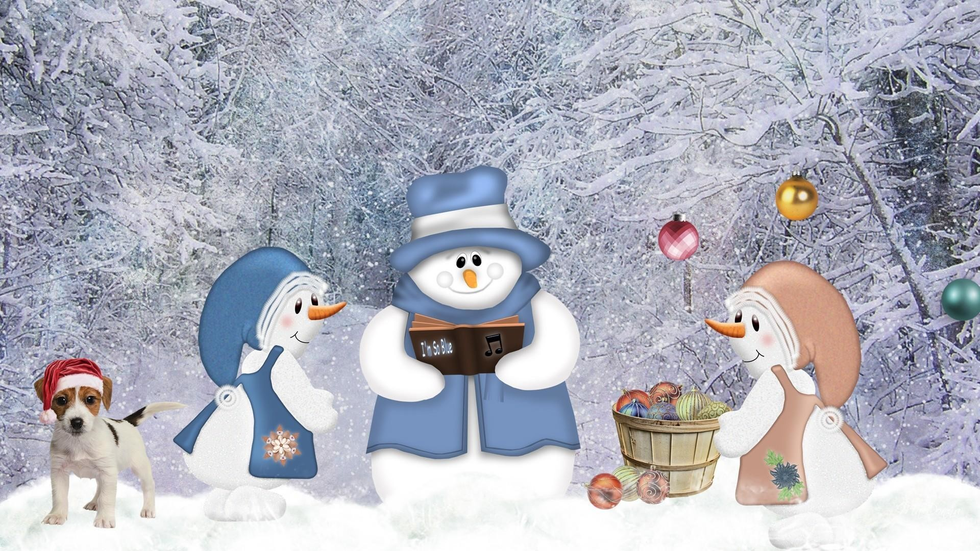 2880x1800 Snowman Widescreen Wallpaper 52518