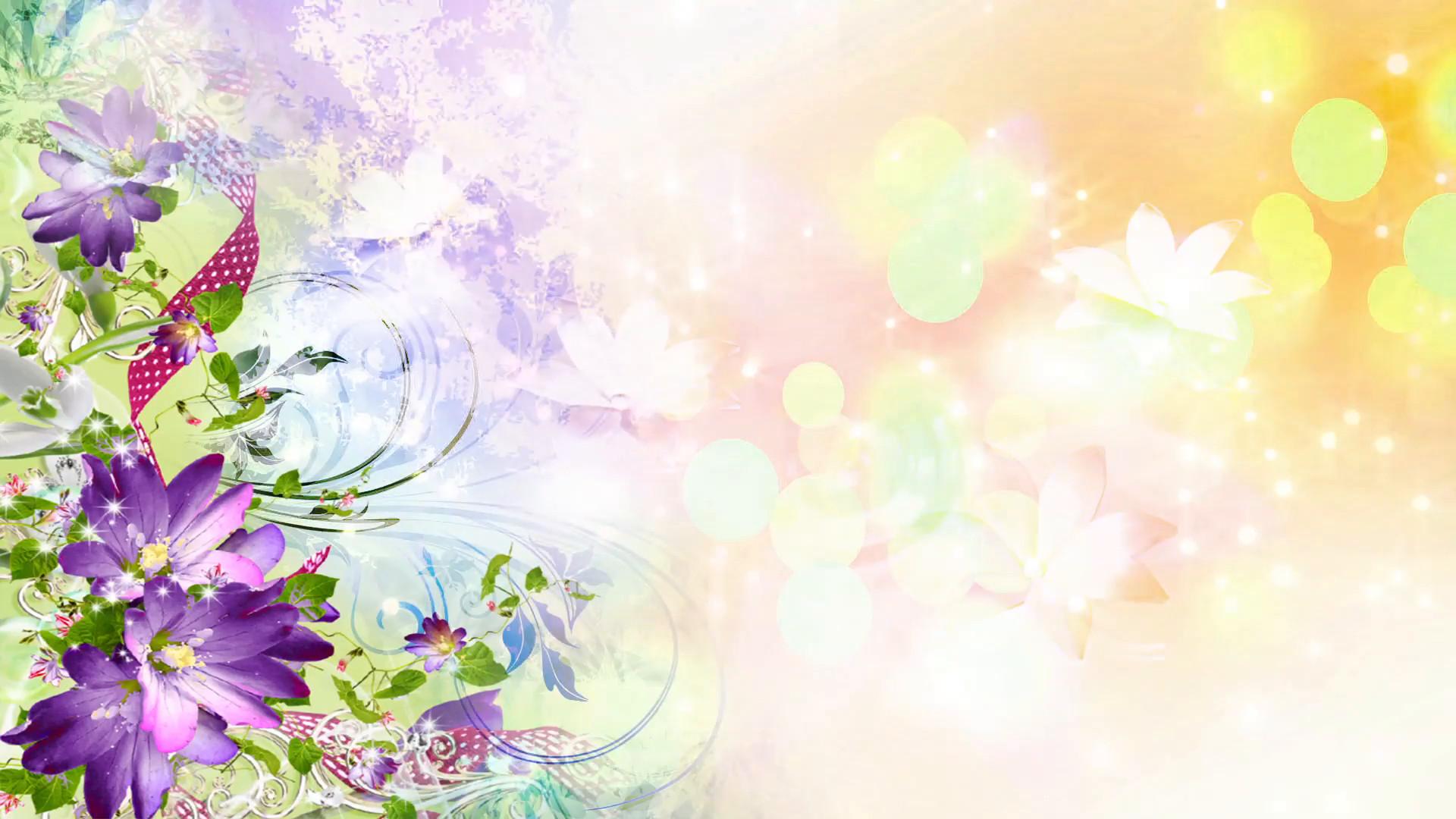 Открытки с цветами фоны