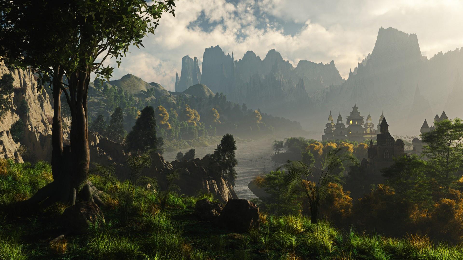 Fantasy Landscape Wallpaper 77 Pictures
