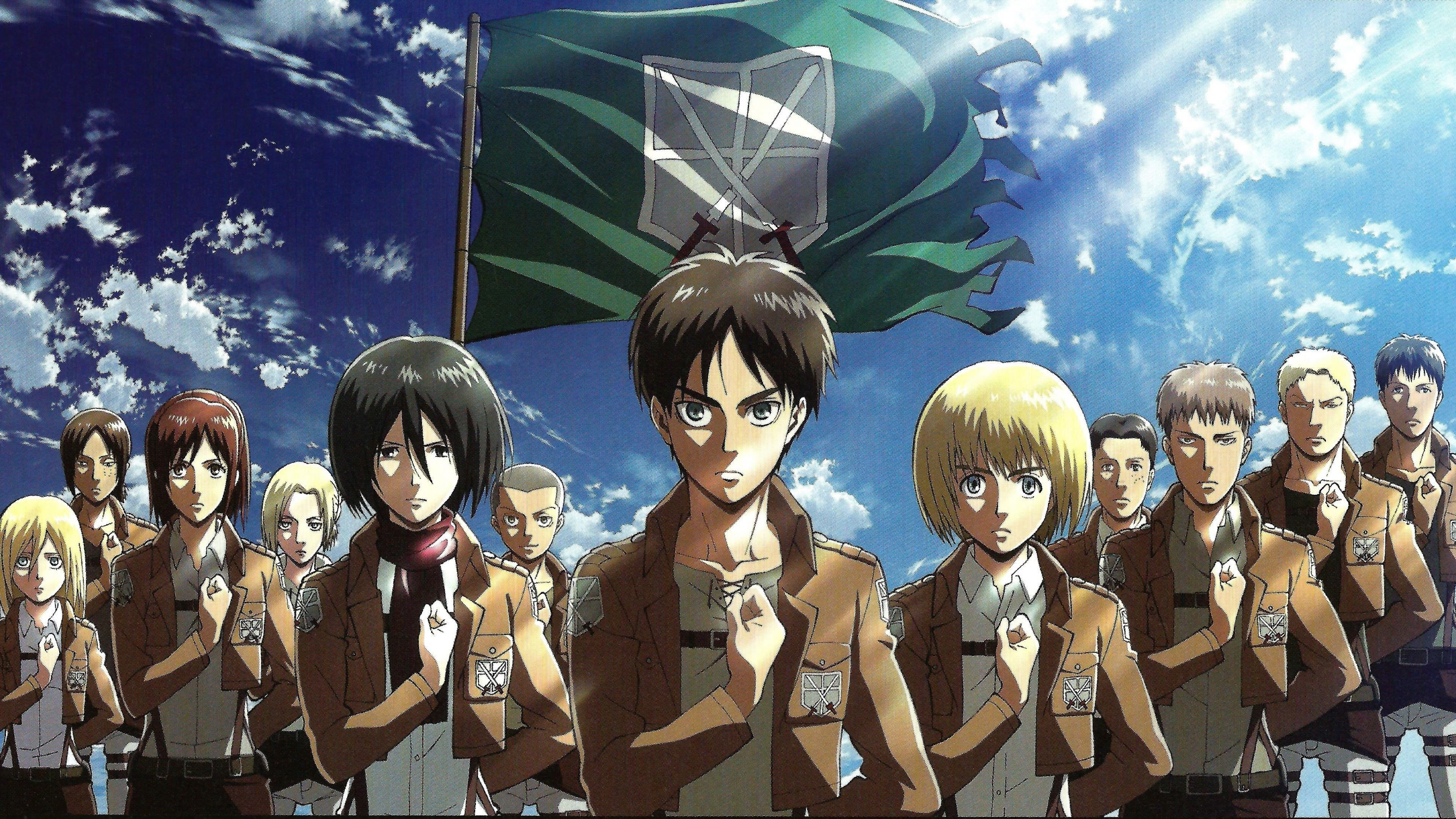 Survey Corps Aot Background Gambarku
