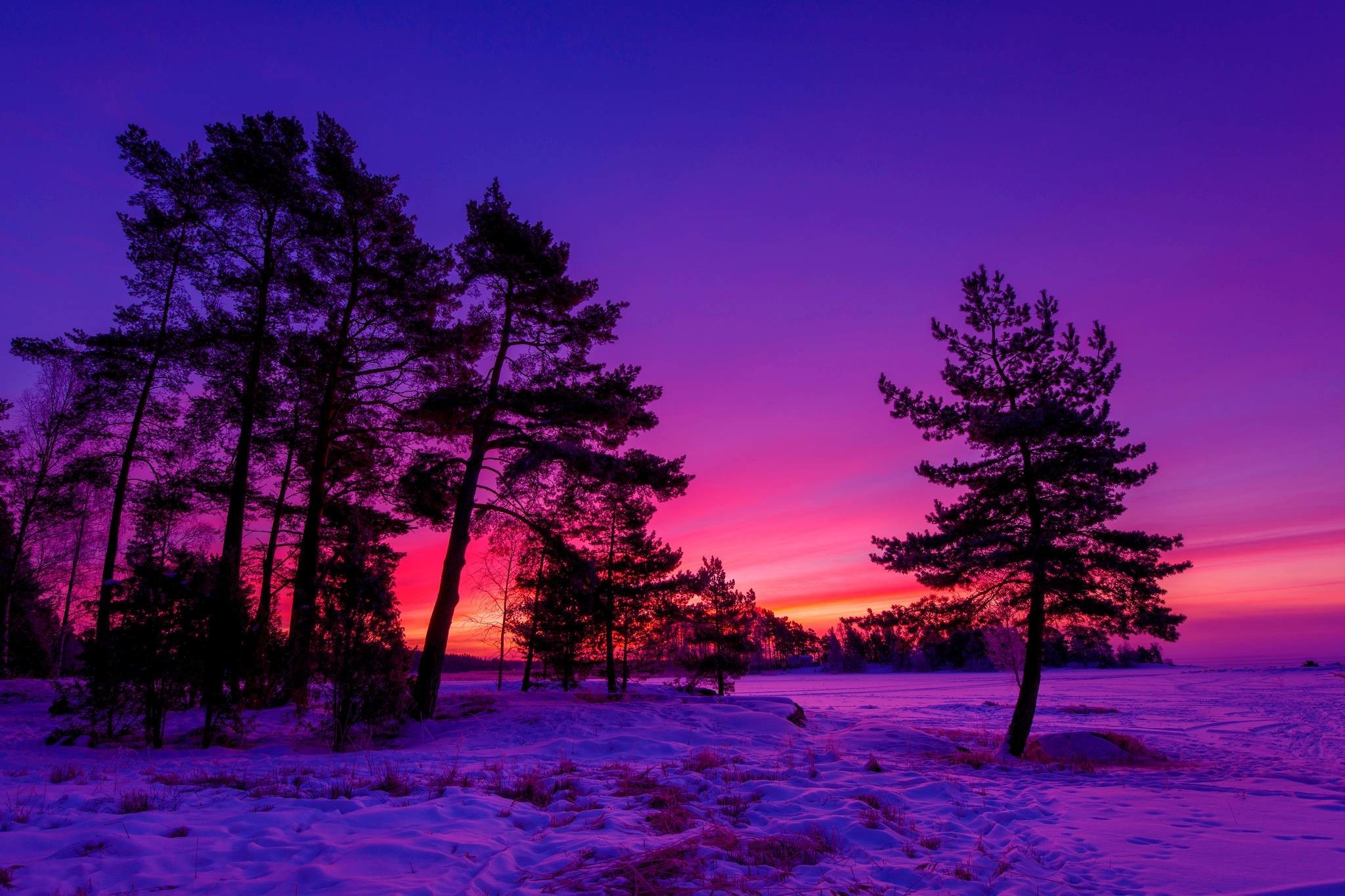 Winter Sunset Wallpaper (74+ pictures)