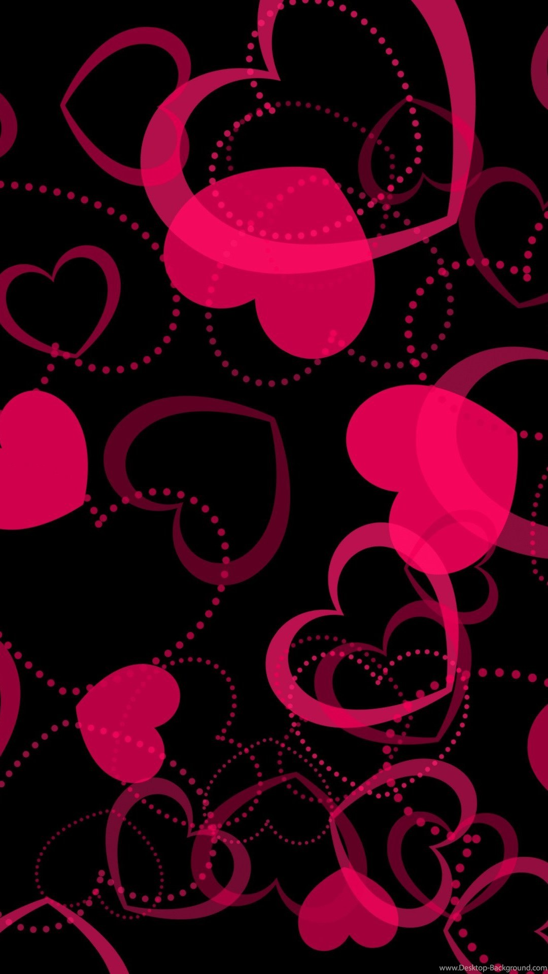 Pink Heart Wallpapers 67 Pictures