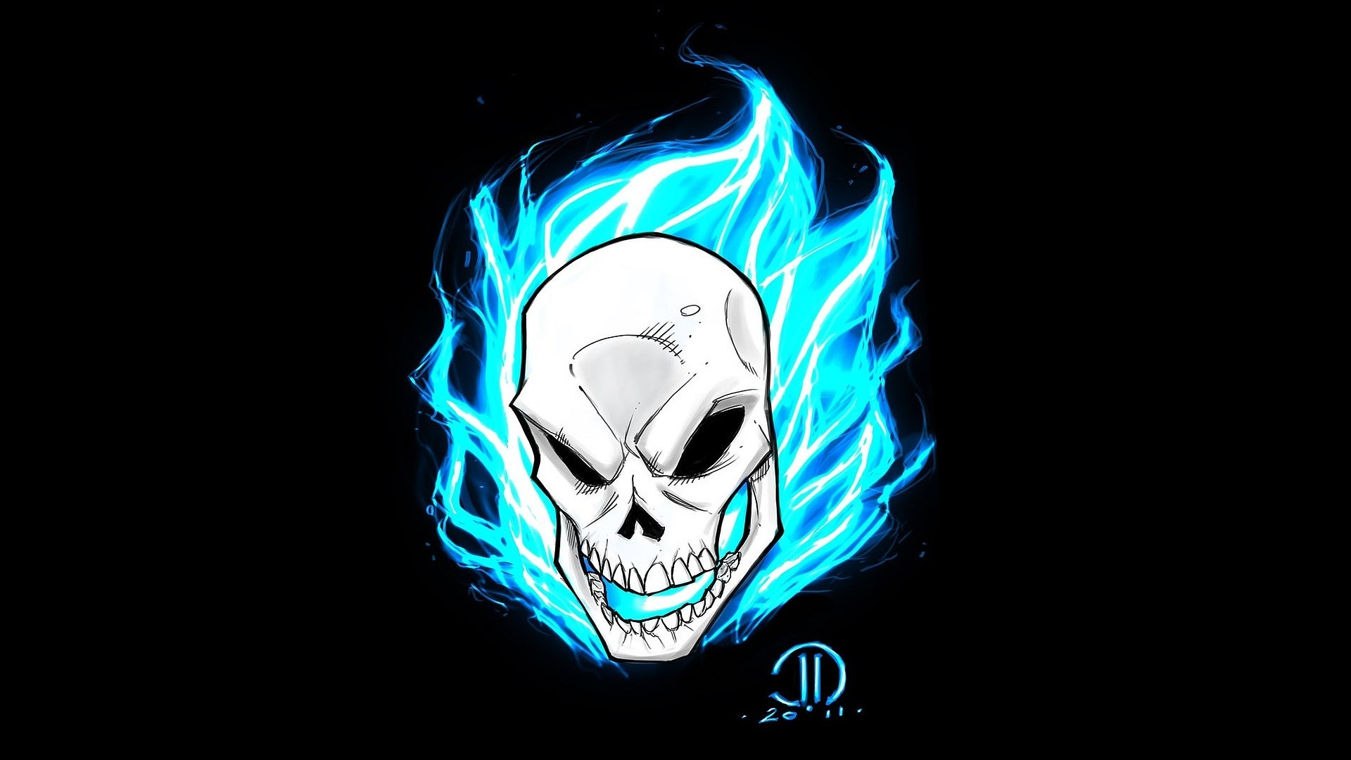 1920x1080 Ghost Rider Skull Wallpaper
