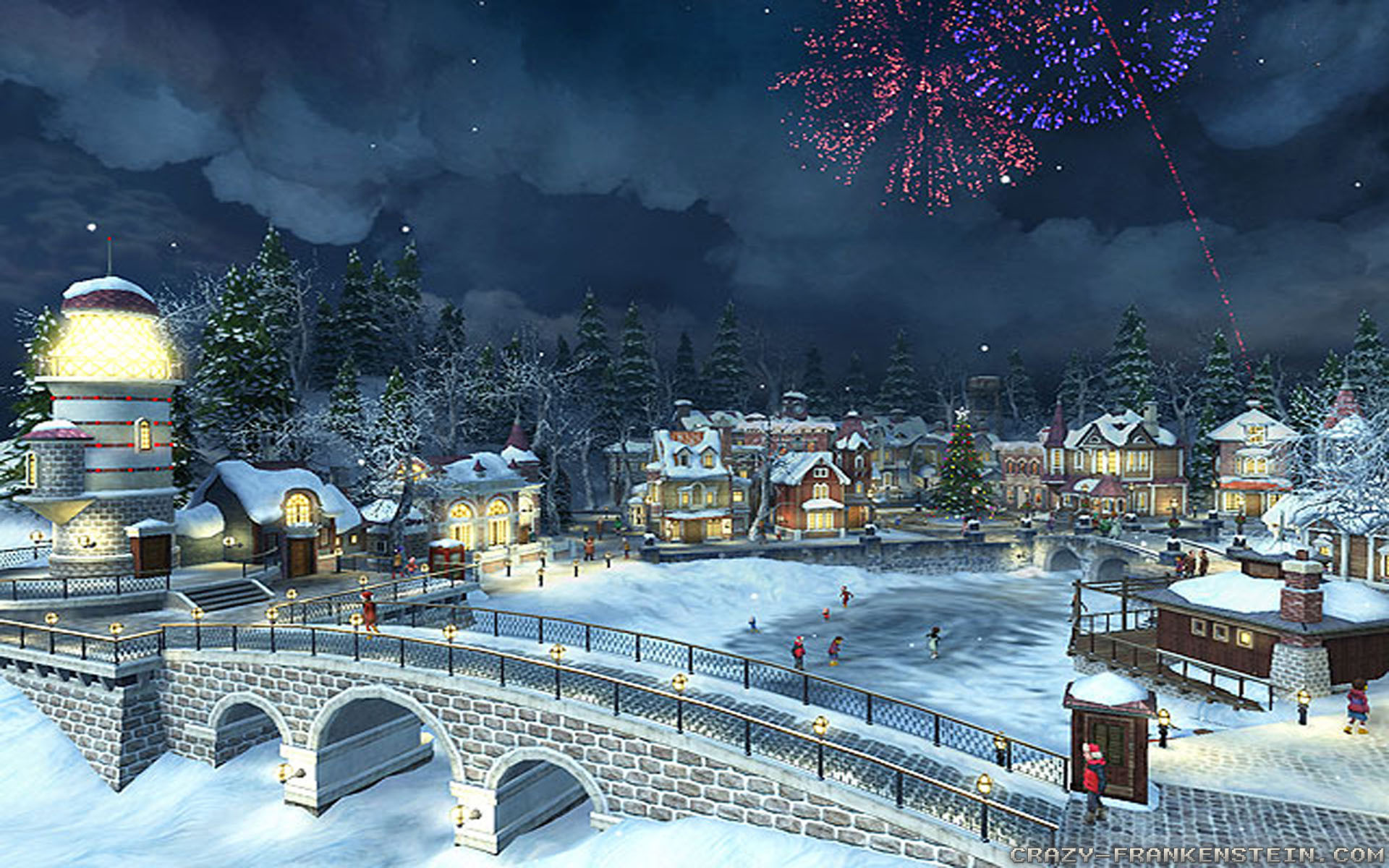 Christmas Village Wallpaper (55+ Pictures