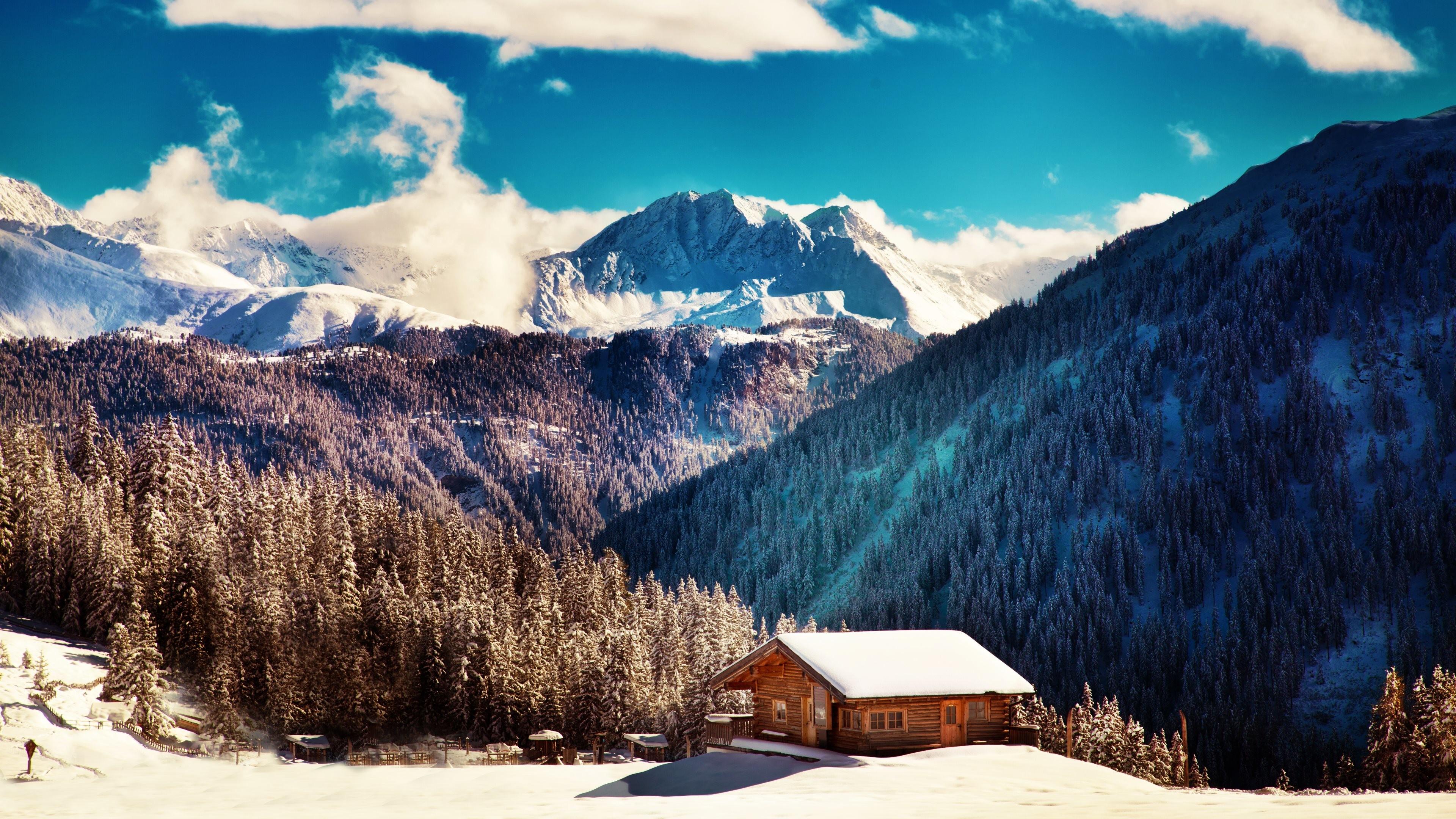 2800x1800 Snowy Mountain Nature HD Wallpaper Wide