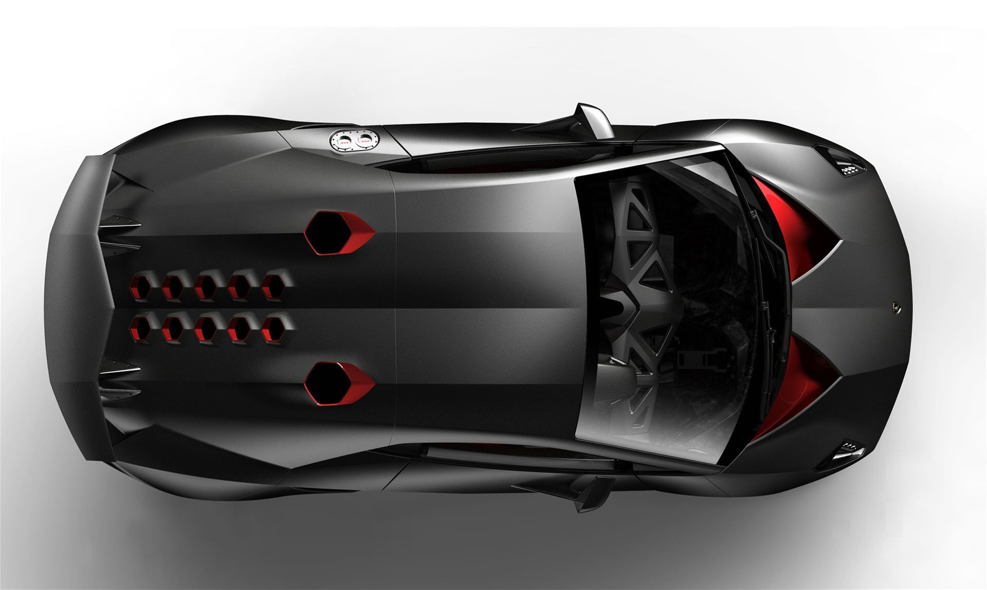 Lamborghini Sesto Elemento Side Anime Aerography Car 2014