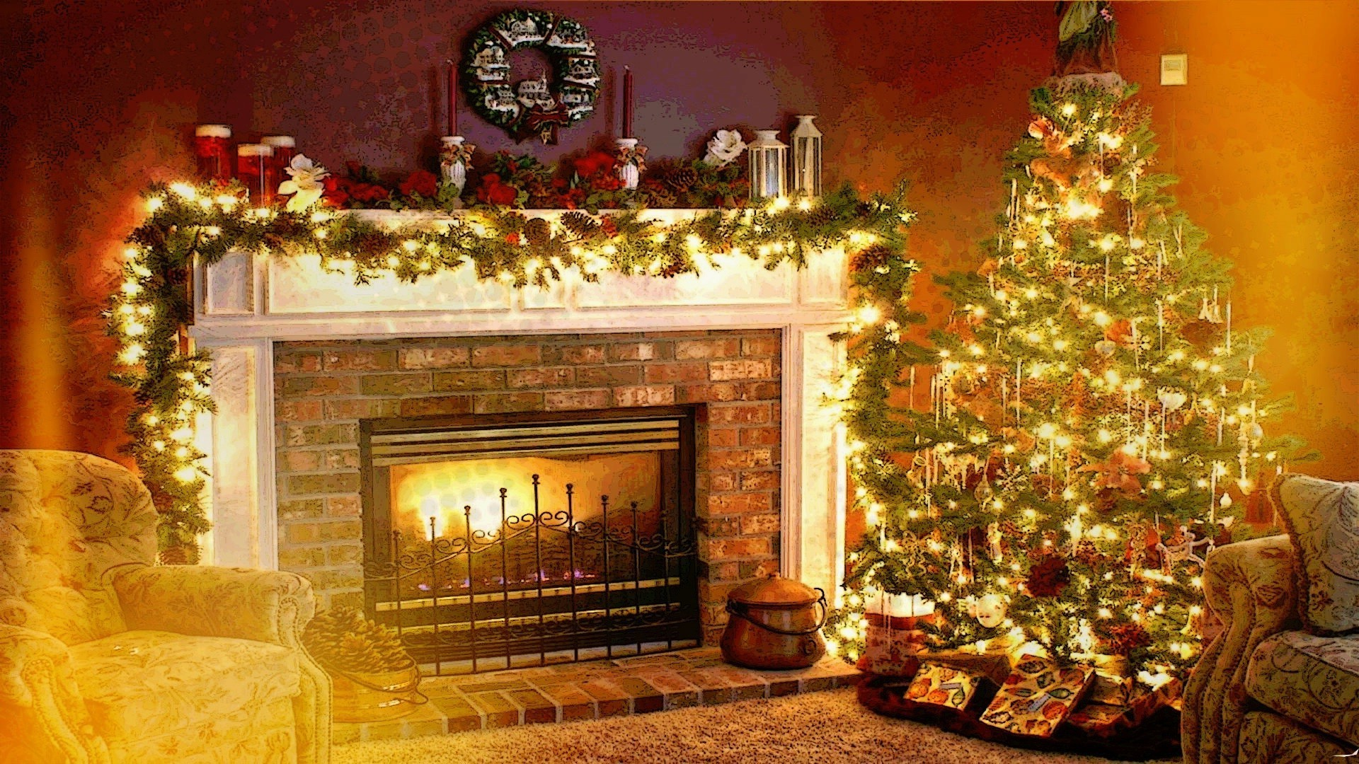 1920x1080 Christmas Wallpaper 76 Pictures