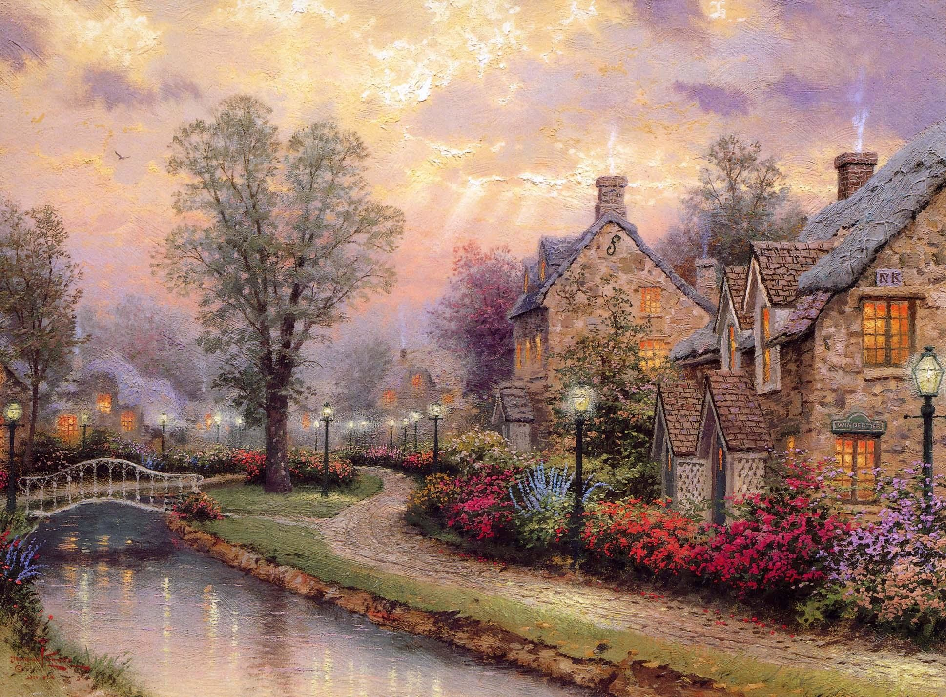 Thomas Kinkade Christmas Wallpapers 63 Pictures
