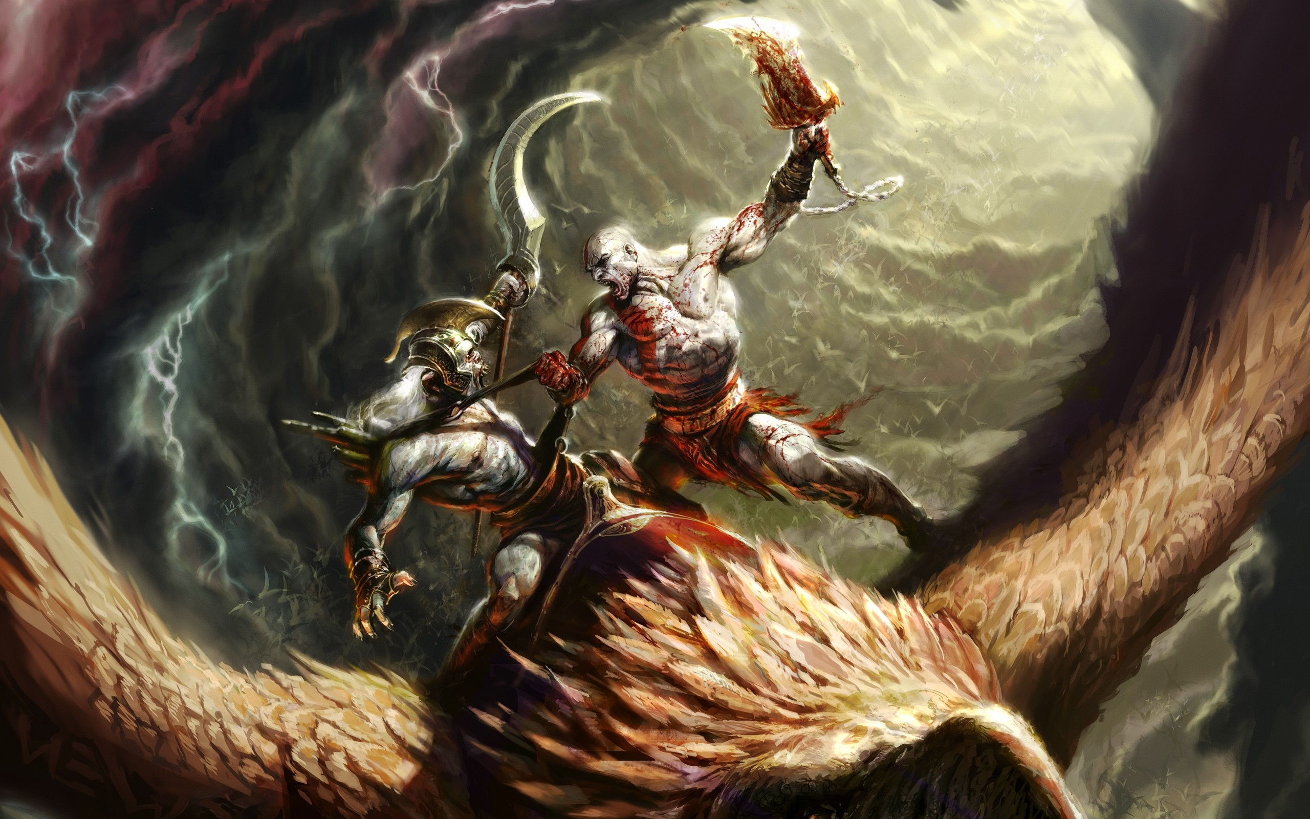 1920x1080 Kratos From God Of War Ascension Wallpaper