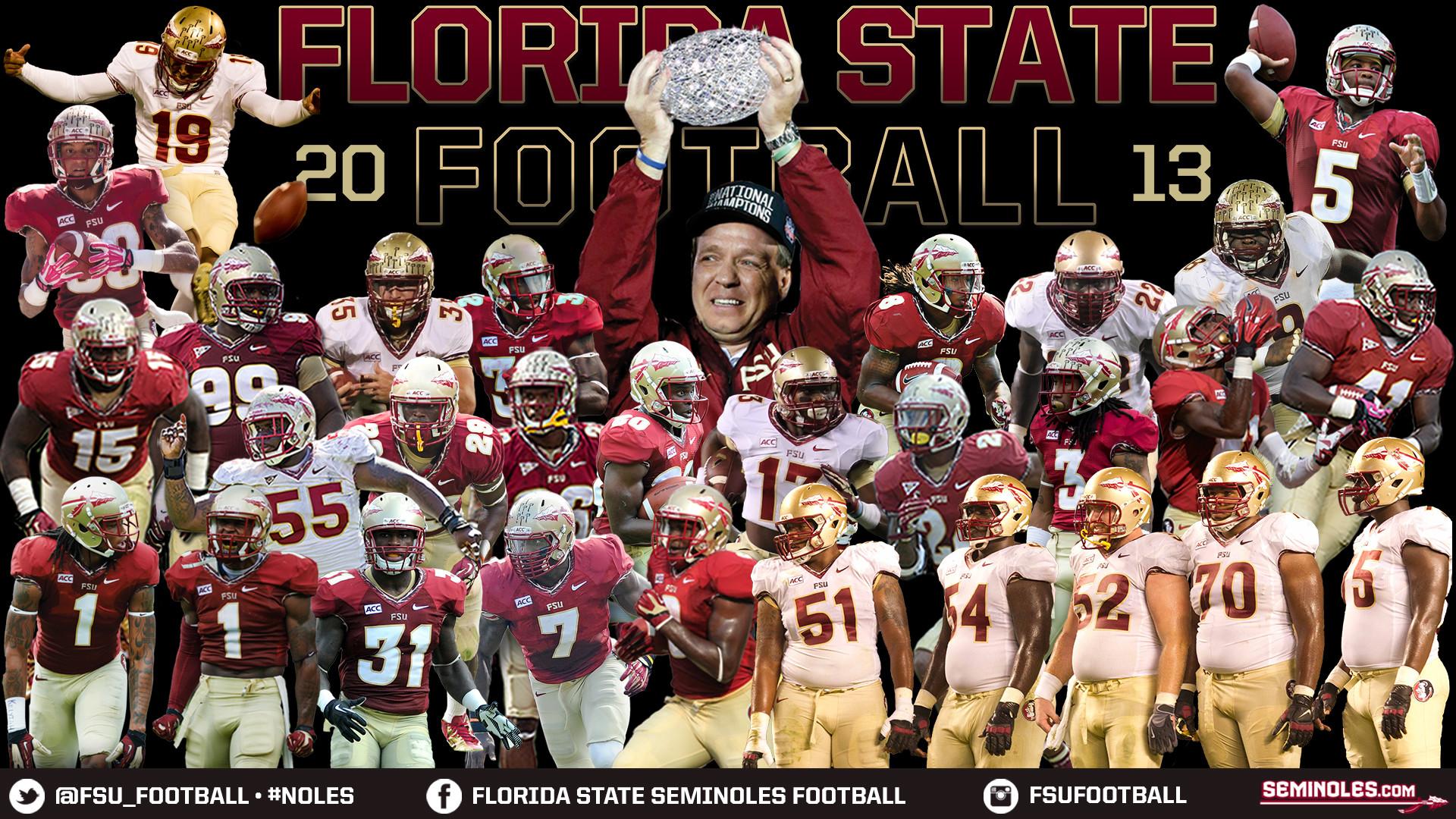 Florida State Seminoles Black Background 1920x1080