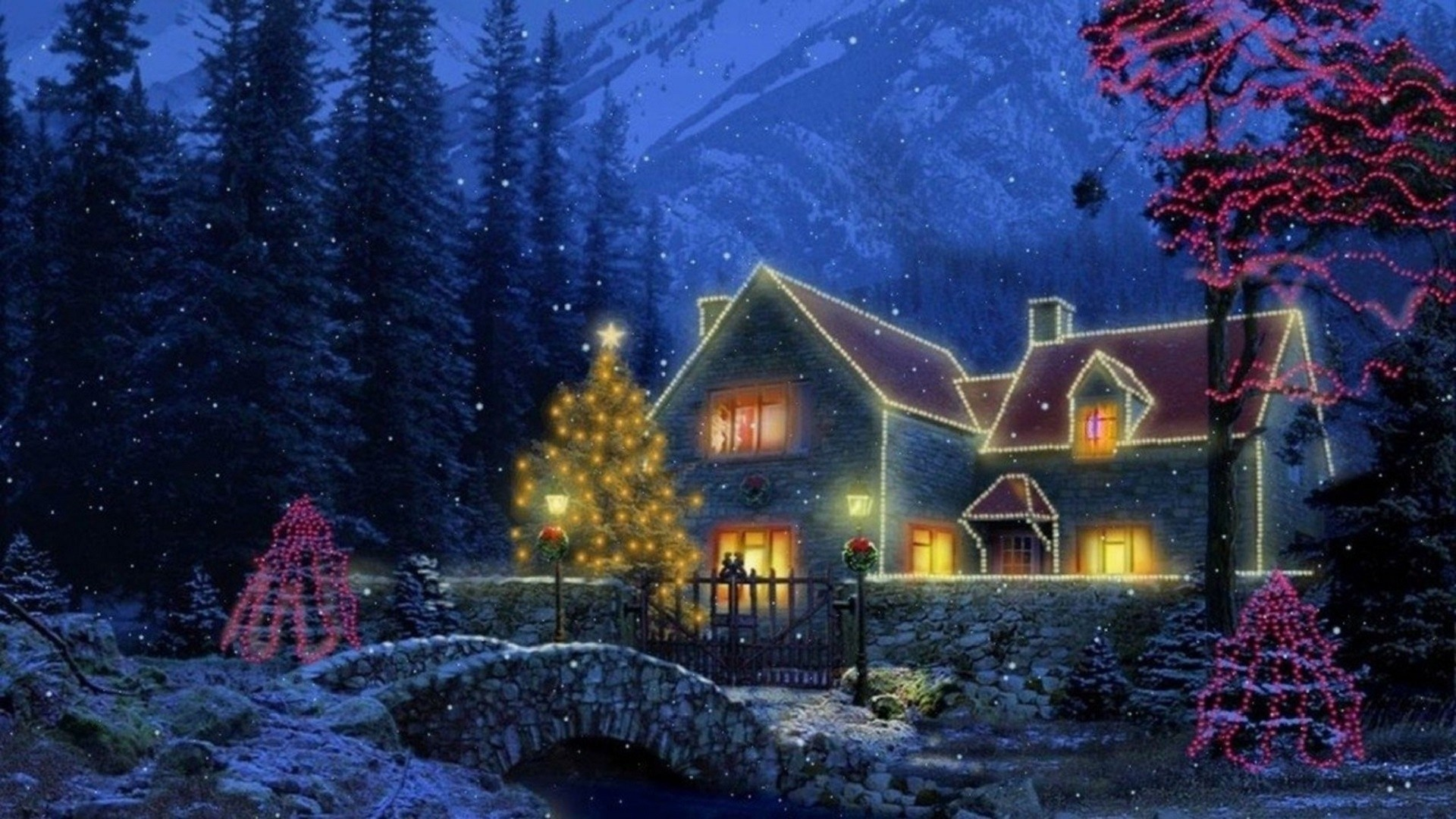 Christmas Cottage Wallpaper 64 Pictures