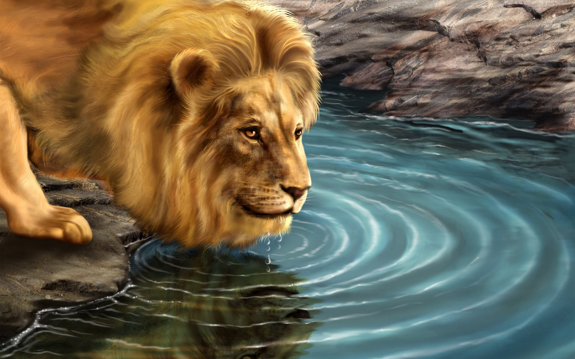 Abstract Lion Wallpapers HD Images