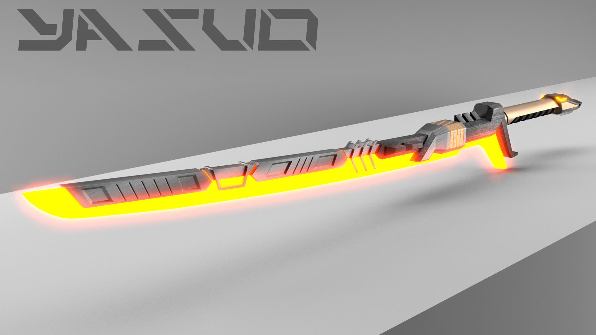 ... PROJECT: Yasuo sword - wallpaper v2.0 (darker) by tarbyk 1920x1080